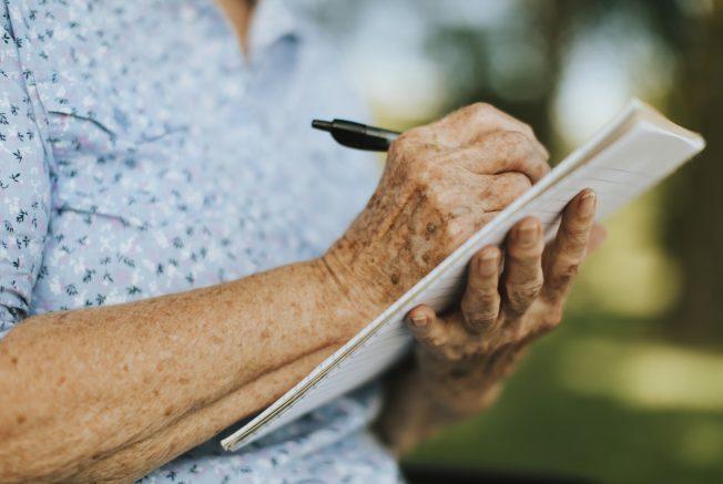 Older women writting
